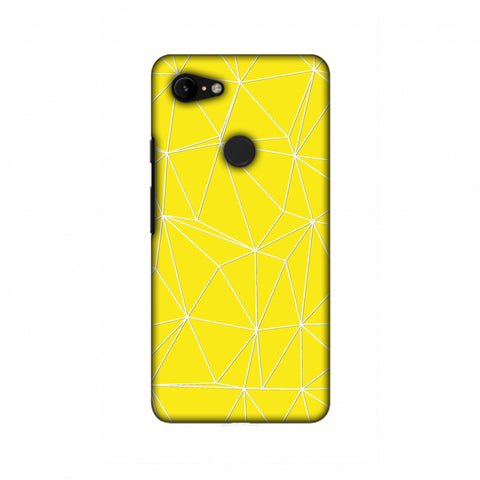 Carbon Fibre Redux Cyber Yellow 11 Slim Hard Shell Case For Google Pixel 3