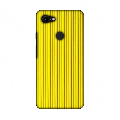 Carbon Fibre Redux Cyber Yellow 12 Slim Hard Shell Case For Google Pixel 3 XL