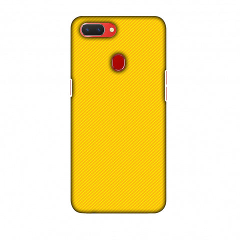Carbon Fibre Redux Cyber Yellow 13 Slim Hard Shell Case For Oppo Realme 2
