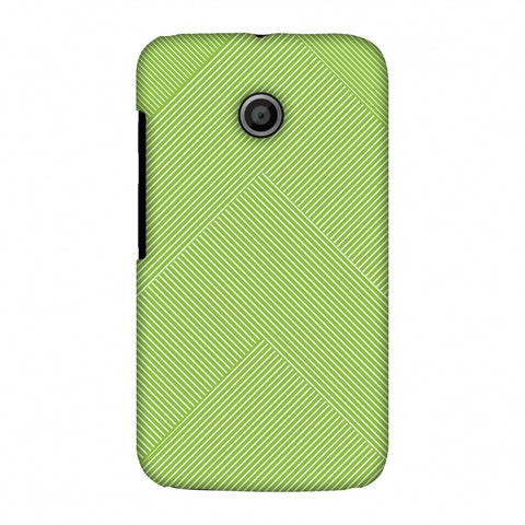 Carbon Fibre Redux Pear Green 4 Slim Hard Shell Case For Motorola Moto E