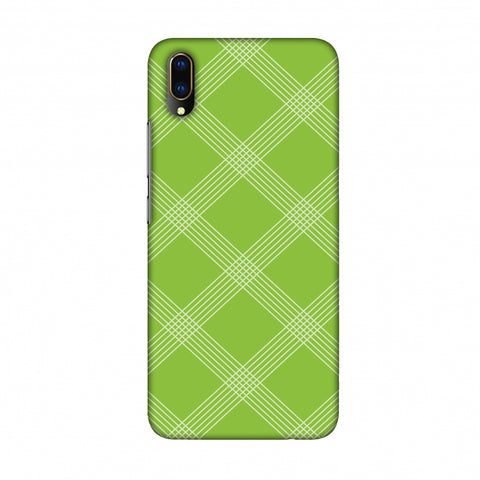 Carbon Fibre Redux Pear Green 5 Slim Hard Shell Case For Vivo V11 Pro