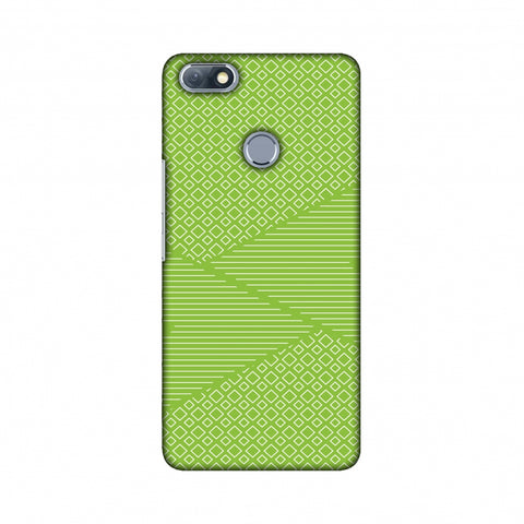 Carbon Fibre Redux Pear Green 6 Slim Hard Shell Case For Infinix Note 5