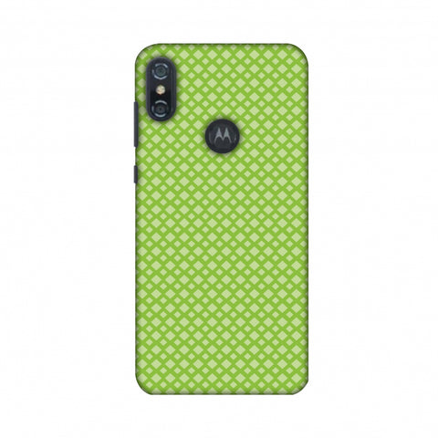 Carbon Fibre Redux Pear Green 7 Slim Hard Shell Case For Motorola One Power