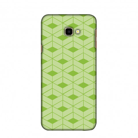 Carbon Fibre Redux Pear Green 9 Slim Hard Shell Case For Samsung Galaxy J4 Plus
