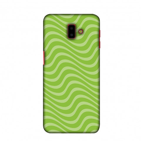 Carbon Fibre Redux Pear Green 10 Slim Hard Shell Case For Samsung Galaxy J6 Plus