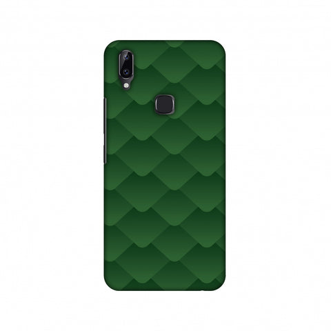 Carbon Fibre Redux Pear Green 11 Slim Hard Shell Case For Vivo Y83 Pro