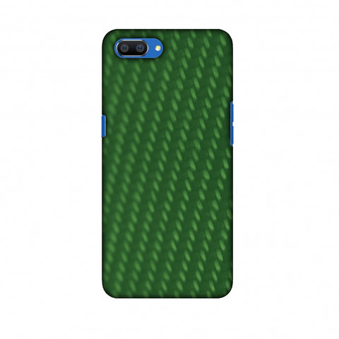 Carbon Fibre Redux Pear Green 13 Slim Hard Shell Case For Oppo Realme C1
