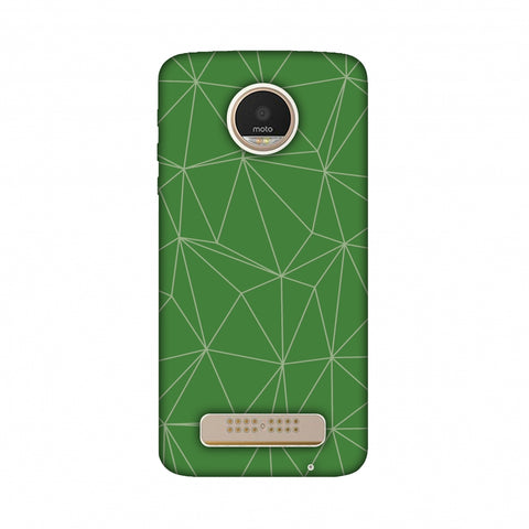 Carbon Fibre Redux Pear Green 14 Slim Hard Shell Case For Motorola Moto Z Play