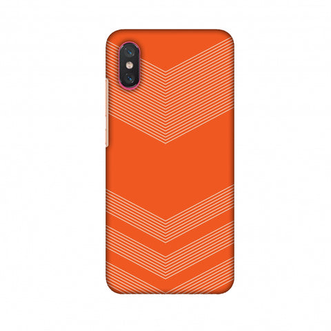 Carbon Fibre Redux Tangy Orange 2 Slim Hard Shell Case For Xiaomi Mi 8 Pro