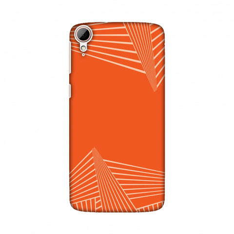 Carbon Fibre Redux Tangy Orange 3 Slim Hard Shell Case For HTC Desire 828