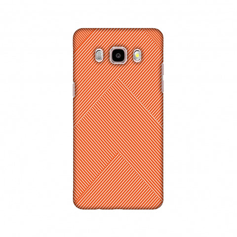 Carbon Fibre Redux Tangy Orange 4 Slim Hard Shell Case For Samsung Galaxy J5 2016