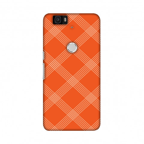 Carbon Fibre Redux Tangy Orange 5 Slim Hard Shell Case For Google Nexus 6P