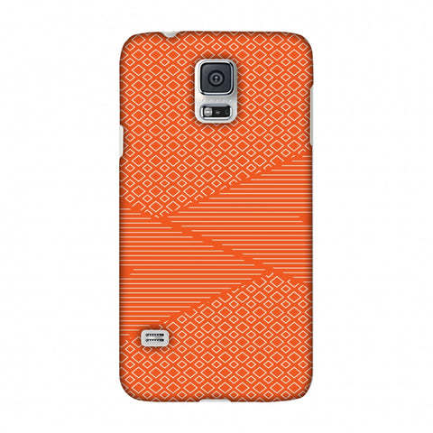 Carbon Fibre Redux Tangy Orange 6 Slim Hard Shell Case For Samsung Galaxy S5
