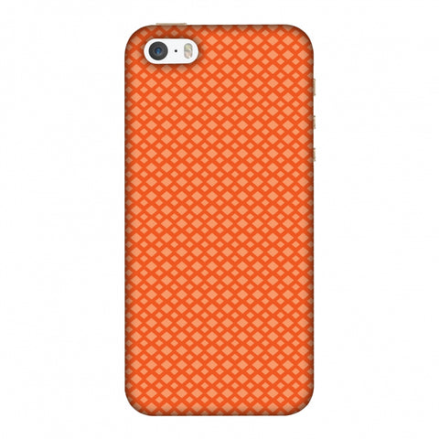 Carbon Fibre Redux Tangy Orange 7 Slim Hard Shell Case For Apple iPhone 5-5S