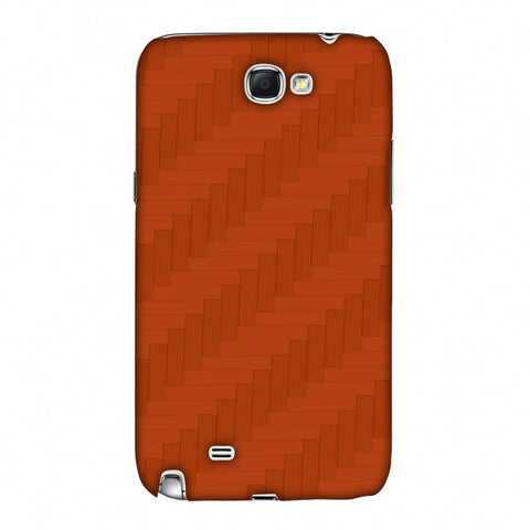 Carbon Fibre Redux Tangy Orange 8 Slim Hard Shell Case For Samsung Galaxy Note 2