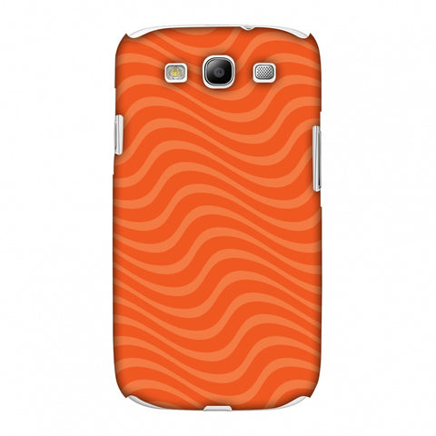 Carbon Fibre Redux Tangy Orange 10 Slim Hard Shell Case For Samsung GALAXY S3
