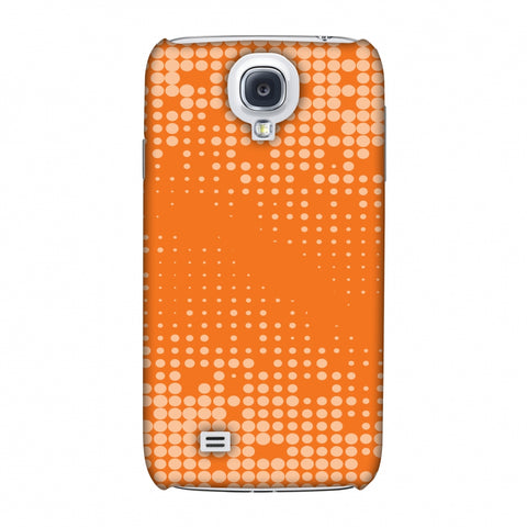Carbon Fibre Redux Tangy Orange 11 Slim Hard Shell Case For Samsung GALAXY S4