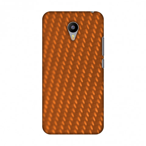 Carbon Fibre Redux Tangy Orange 12 Slim Hard Shell Case For Meizu M2 note
