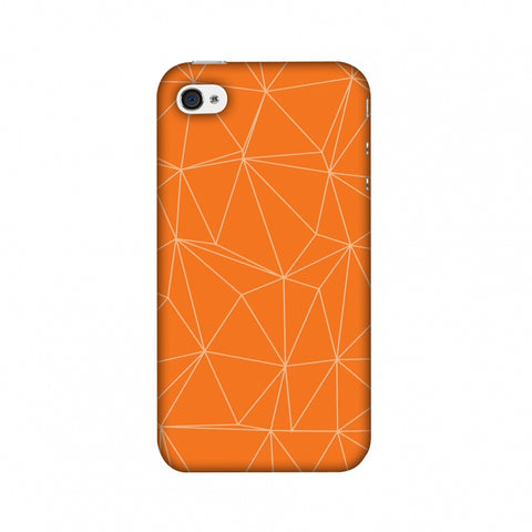Carbon Fibre Redux Tangy Orange 13 Slim Hard Shell Case For Apple iPhone 4-4S