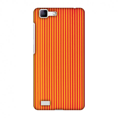 Carbon Fibre Redux Tangy Orange 14 Slim Hard Shell Case For Vivo Y35-V1