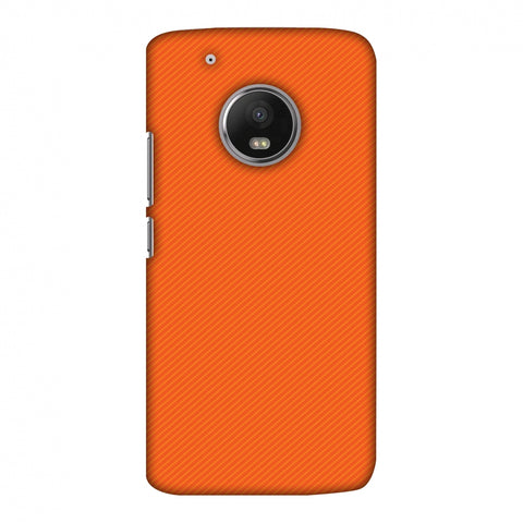 Carbon Fibre Redux Tangy Orange 15 Slim Hard Shell Case For Motorola Moto G5 Plus