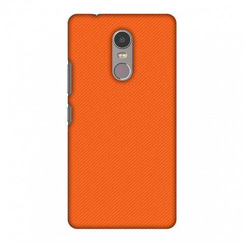 Carbon Fibre Redux Tangy Orange 15 Slim Hard Shell Case For Lenovo K6 Note