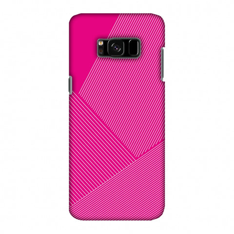 Carbon Fibre Redux Hot Pink 1 Slim Hard Shell Case For Samsung Galaxy S8