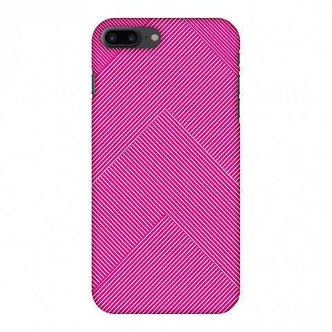 Carbon Fibre Redux Hot Pink 4 Slim Hard Shell Case For Apple iPhone 7 Plus