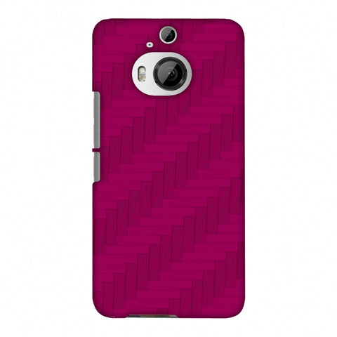 Carbon Fibre Redux Hot Pink 8 Slim Hard Shell Case For HTC One M9 Plus