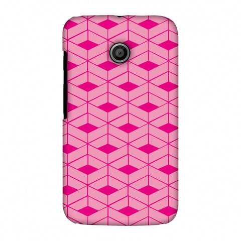 Carbon Fibre Redux Hot Pink 9 Slim Hard Shell Case For Motorola Moto E