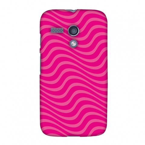 Carbon Fibre Redux Hot Pink 10 Slim Hard Shell Case For Motorola Moto G