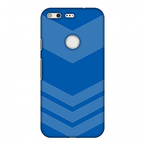 Carbon Fibre Redux Coral Blue 2 Slim Hard Shell Case For Google Pixel XL