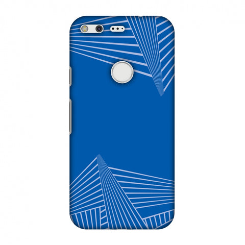 Carbon Fibre Redux Coral Blue 3 Slim Hard Shell Case For Google Pixel
