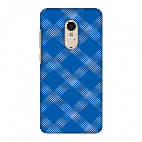 Carbon Fibre Redux Coral Blue 5 Slim Hard Shell Case For Xiaomi Redmi Note 4