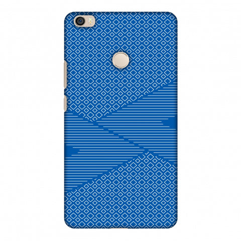 Carbon Fibre Redux Coral Blue 6 Slim Hard Shell Case For Xiaomi Mi Max