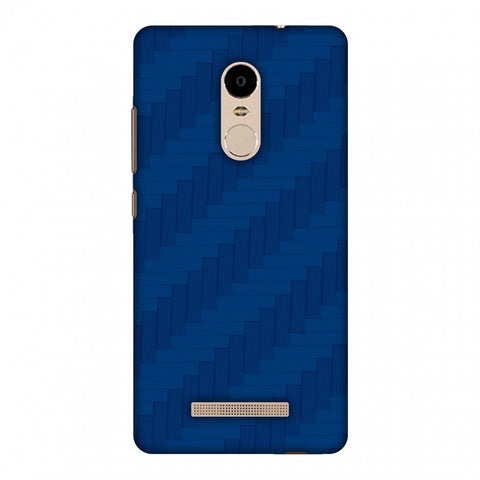 Carbon Fibre Redux Coral Blue 8 Slim Hard Shell Case For Xiaomi Redmi Note 3