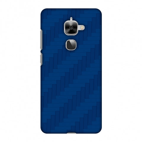 Carbon Fibre Redux Coral Blue 8 Slim Hard Shell Case For LeEco Le 2