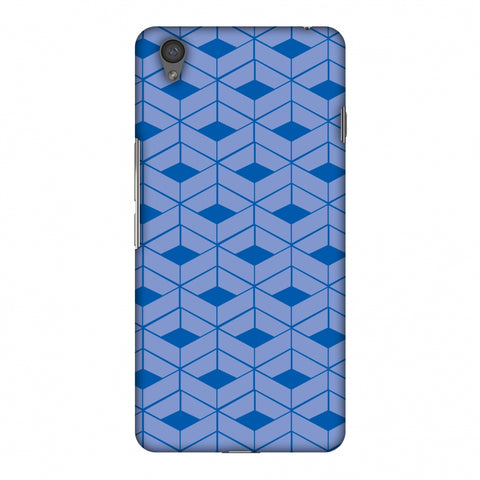 Carbon Fibre Redux Coral Blue 9 Slim Hard Shell Case For OnePlus X