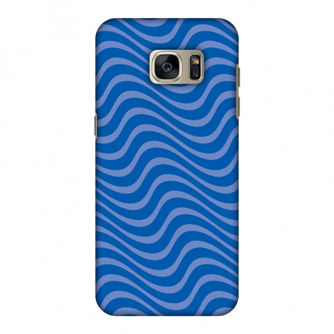 Carbon Fibre Redux Coral Blue 10 Slim Hard Shell Case For Samsung GALAXY S7 Edge