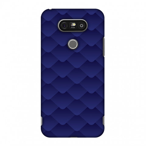 Carbon Fibre Redux Coral Blue 11 Slim Hard Shell Case For LG G5