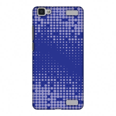 Carbon Fibre Redux Coral Blue 12 Slim Hard Shell Case For Vivo V1 Max