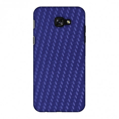 Carbon Fibre Redux Coral Blue 13 Slim Hard Shell Case For Samsung Galaxy A7 2017