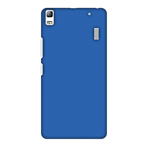 Carbon Fibre Redux Coral Blue 17 Slim Hard Shell Case For Lenovo A7000 Turbo