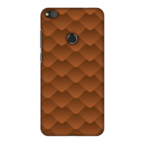 Carbon Fibre Redux Desert SAnd 11 Slim Hard Shell Case For Huewai P8 Lite