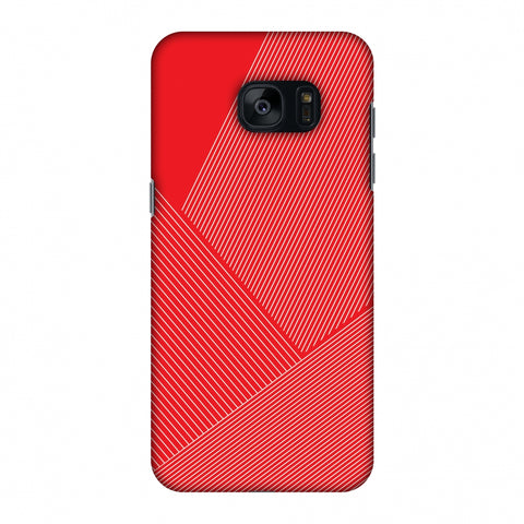 Carbon Fibre Redux CAndy Red 1 Slim Hard Shell Case For Samsung GALAXY S7