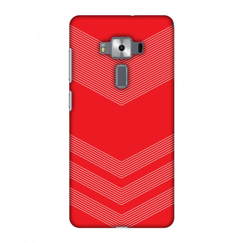Carbon Fibre Redux CAndy Red 2 Slim Hard Shell Case For Asus Zenfone 3 Deluxe ZS570KL