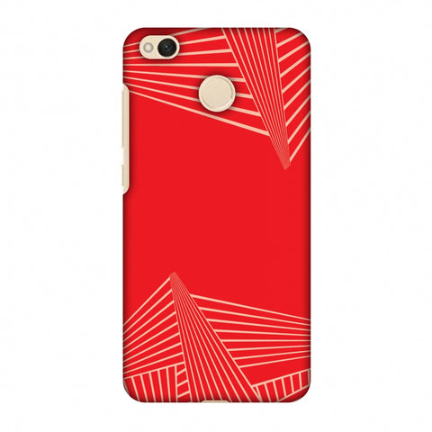 Carbon Fibre Redux CAndy Red 3 Slim Hard Shell Case For Xiaomi Redmi 4-4X