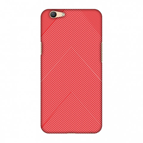 Carbon Fibre Redux CAndy Red 4 Slim Hard Shell Case For Oppo F1s