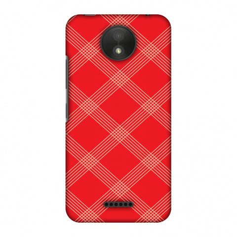 Carbon Fibre Redux CAndy Red 5 Slim Hard Shell Case For Motorola Moto C Plus