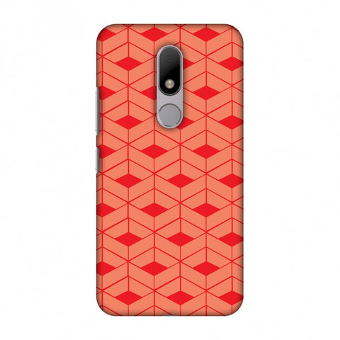 Carbon Fibre Redux CAndy Red 9 Slim Hard Shell Case For Motorola Moto M